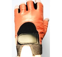 Gants cuir 100 %  Orange