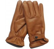 Gants cuir 100% orange